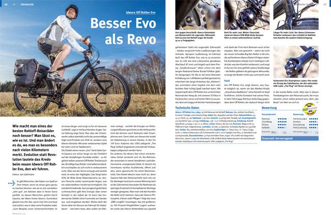 """Test idworx Off Rohler Evo: <br />""""Besser Evo als Revo"""" – Testurteil: hervorragend"""