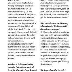 """Gerrit Gaastra zum Riemenantrieb: <br />""""Ein Riemen ist nicht wartungsfrei!"""""""