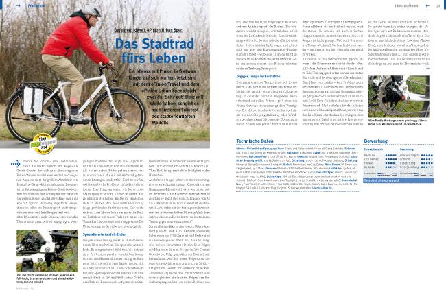 """Test idworx oPinion 'urban spec':<br /> """"Das Stadtrad fürs Leben – RADtouren Top-Produkt 2/14"""" – Testurteil: hervorragend"""