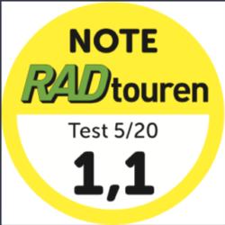 Topscores voor de Grandone travel in de Randonneur-vergelijkingstest RADtouren Magazin 5/20