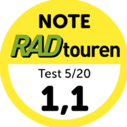 Top marks for Grandone travel in the Randonneur comparison test RADtouren Magazin 5/20